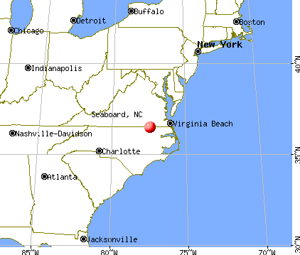 Seaboard, North Carolina map