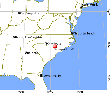 Prospect, North Carolina map