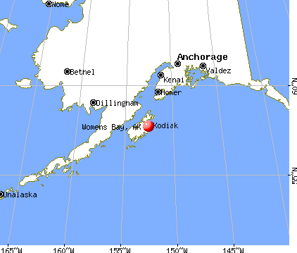 Womens Bay, Alaska map