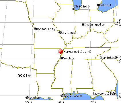 Hornersville, Missouri map