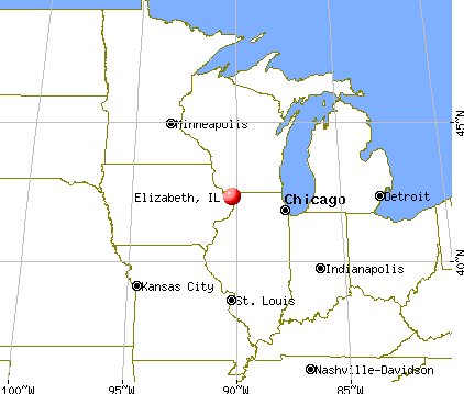 Elizabeth, Illinois map