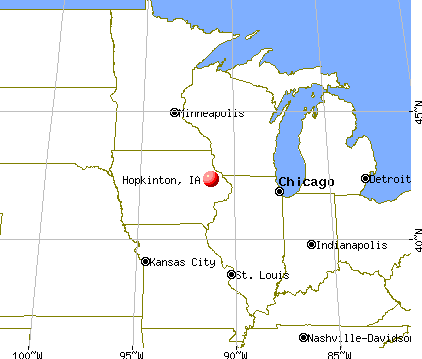 Hopkinton, Iowa map