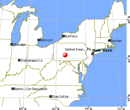 Sankertown, Pennsylvania map