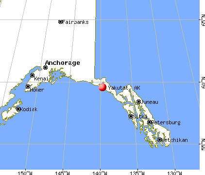 Yakutat, Alaska map