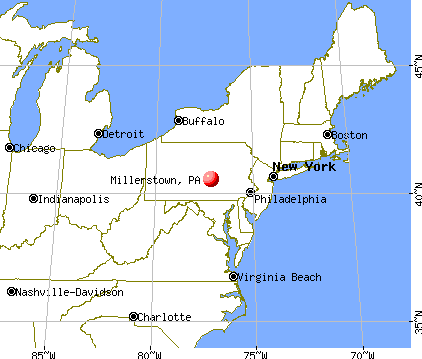 Millerstown, Pennsylvania map