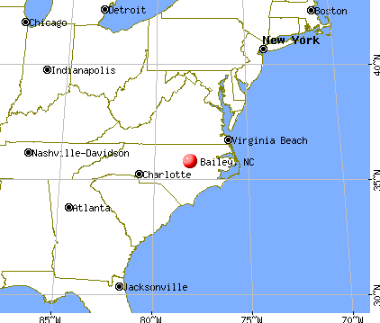 Bailey, North Carolina map