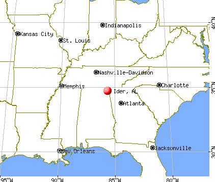 Ider, Alabama map