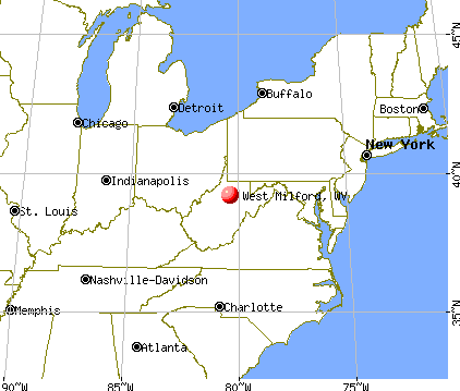 West Milford, West Virginia map