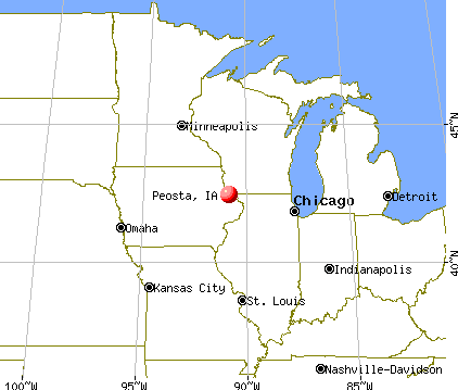 Peosta, Iowa map