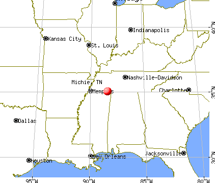 Michie, Tennessee map