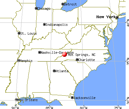 Hot Springs, North Carolina map
