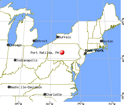 Port Matilda, Pennsylvania map