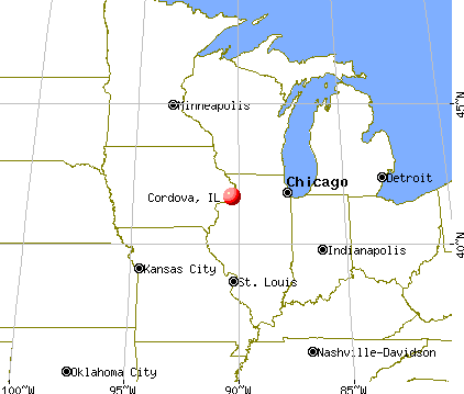 Cordova, Illinois map