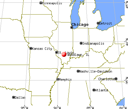 Woodlawn, Illinois map