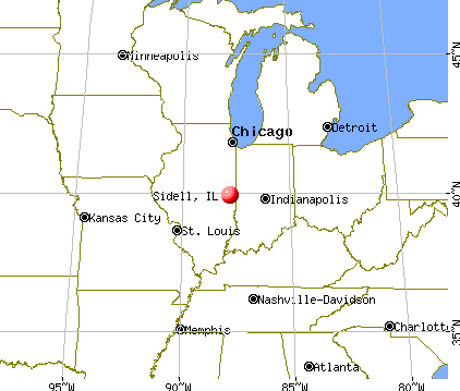 Sidell, Illinois map