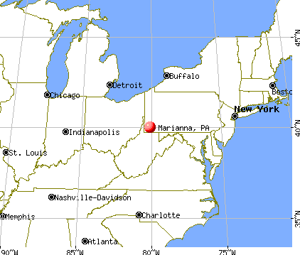 Marianna, Pennsylvania map