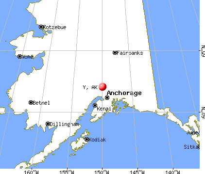 Y, Alaska map