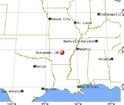 Alexander, Arkansas map