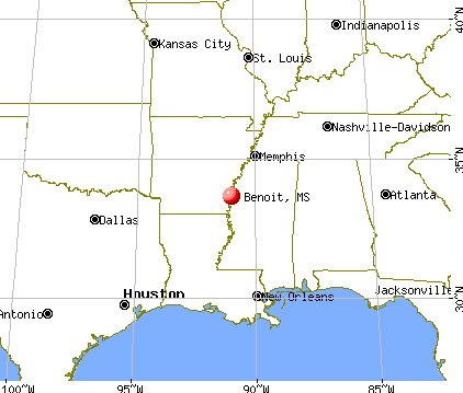 Benoit, Mississippi map