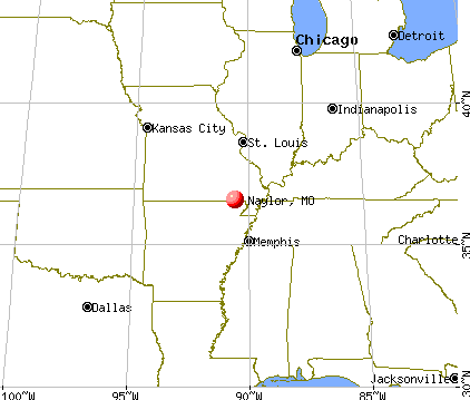 Naylor, Missouri map