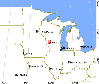 Avoca, Wisconsin map