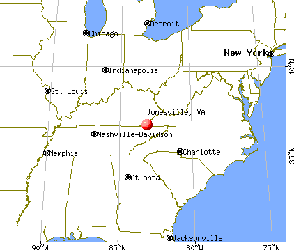 Jonesville, Virginia map
