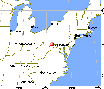 Carpendale, West Virginia map
