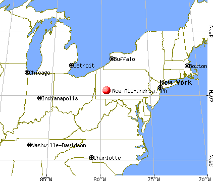 New Alexandria, Pennsylvania map