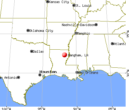 Mangham, Louisiana map