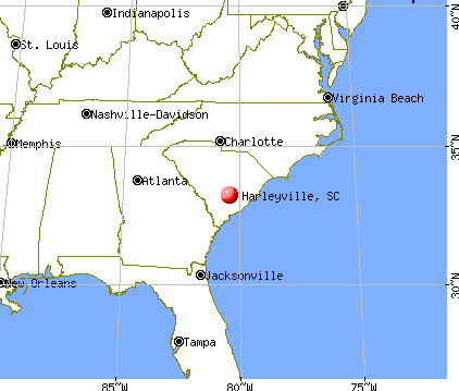 Harleyville, South Carolina map