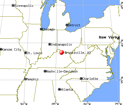 Brooksville, Kentucky map