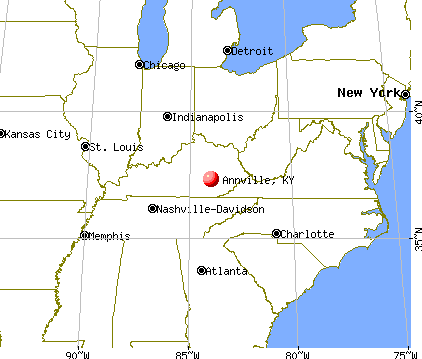 Annville, Kentucky map