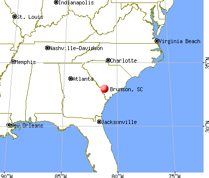 Brunson, South Carolina map