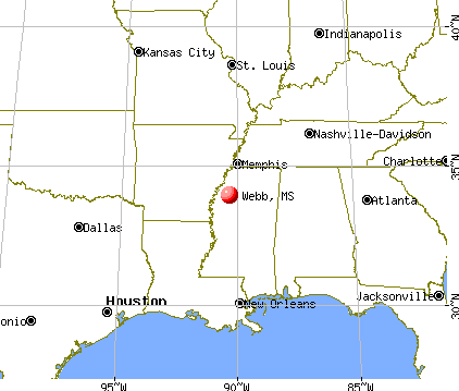Webb, Mississippi map