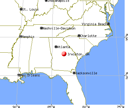 Irwinton, Georgia map