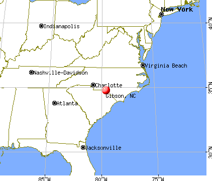 Gibson, North Carolina map