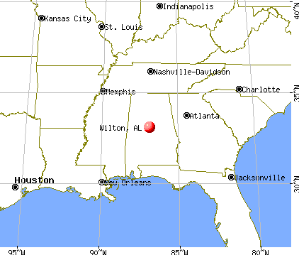 Wilton, Alabama map