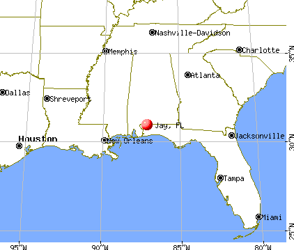 Jay, Florida map