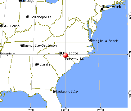 Morven, North Carolina map