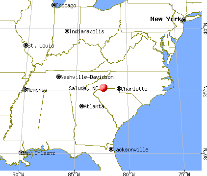 Saluda, North Carolina map