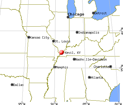 Kevil, Kentucky map