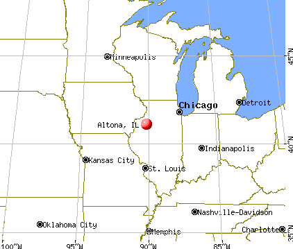 Altona, Illinois map