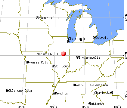 Mansfield, Illinois map
