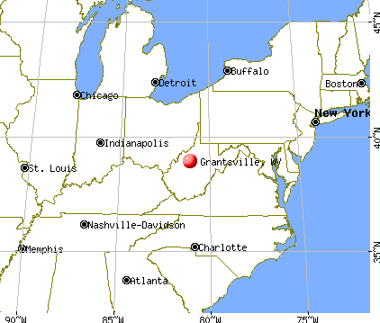 Grantsville, West Virginia map