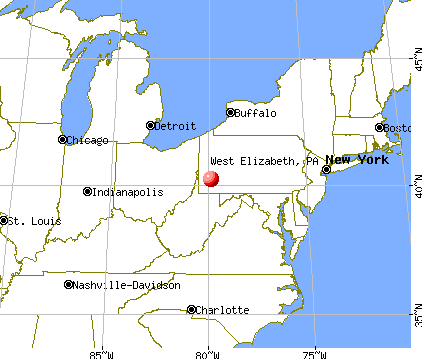 West Elizabeth, Pennsylvania map