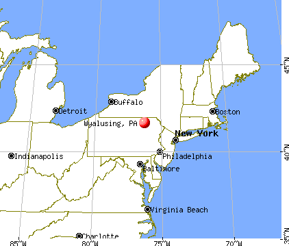 Wyalusing, Pennsylvania map