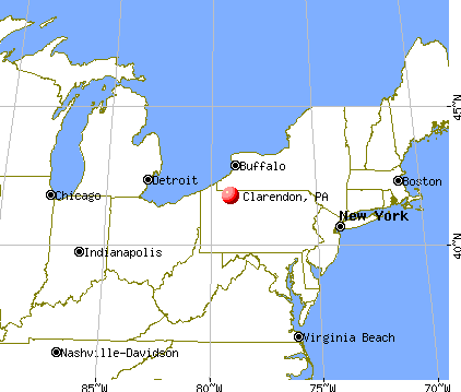 Clarendon, Pennsylvania map