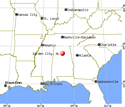 Garden City, Alabama map