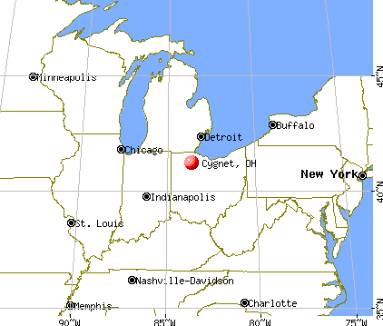 Cygnet, Ohio map