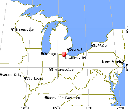 Metamora, Ohio map
